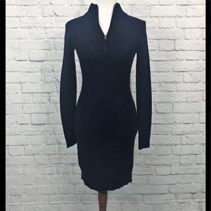 NWOT MARC NEW YORK Charcoal Gray Sweater Dress M